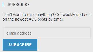 Get in the AC3 Info Loop 😍
