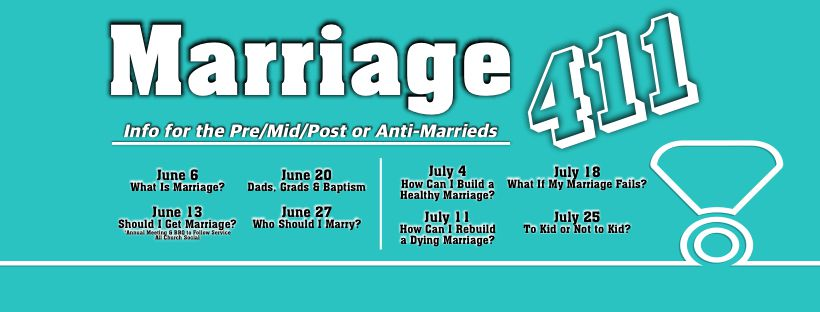 Read more about the article 07/25/2021: Marriage 411 – To Kid or not to Kid