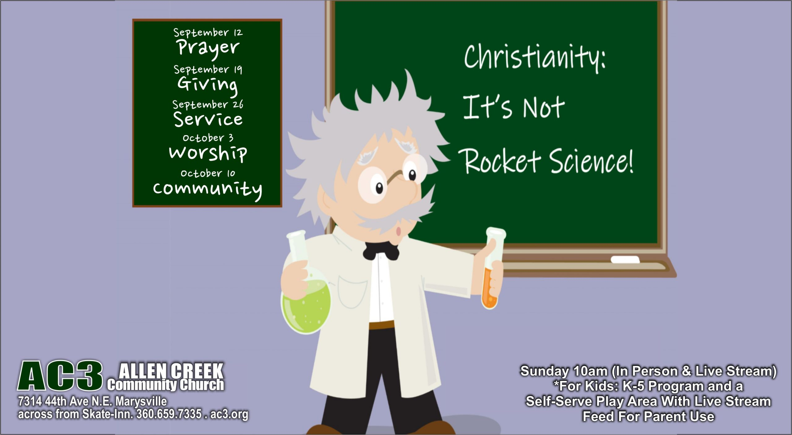 Read more about the article 10/10/2021: Christianity, It's Not Rocket Science – Community